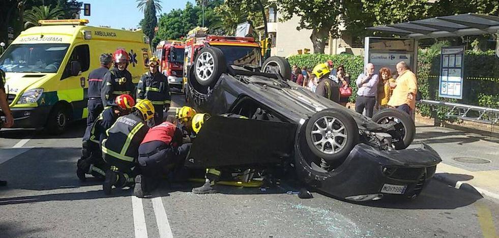 Varios vuelcos de coches en Málaga en los últimos días: ¿Por qué ocurren?