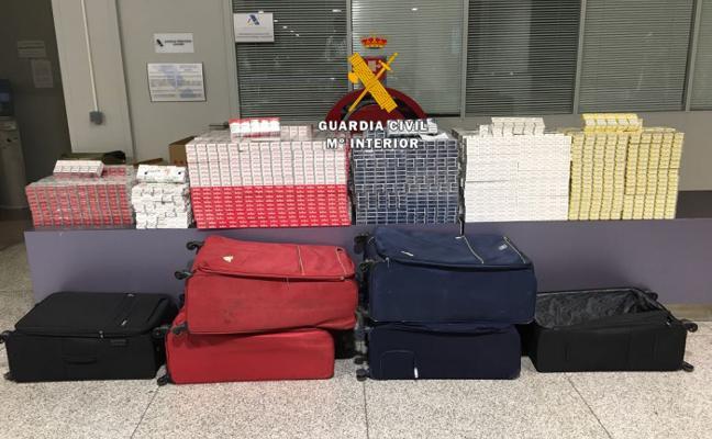 INCAUTAN 5.520 CAJETILLAS DE TABACO EN EL AEROPUERTO
