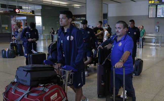 La selección de Costa Rica ya está en Málaga