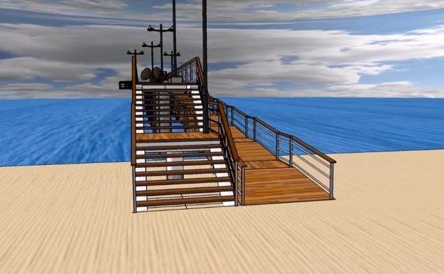 Torre del Mar presenta el proyecto de pasarela y mirador para su playa