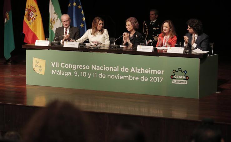 La Reina Doña Sofía inaugura el Congreso Nacional de Alzhéimer en Málaga