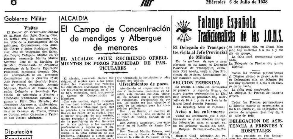 Cuando Málaga tenía un campo de concentración para mendigos