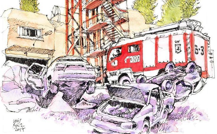 Málaga a Trazos. Escenario post-apocalíptico