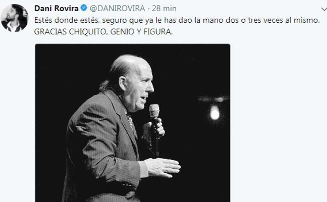 «Hasta luego Lucas». La multitudinaria despedida de Chiquito de la Calzada en redes sociales