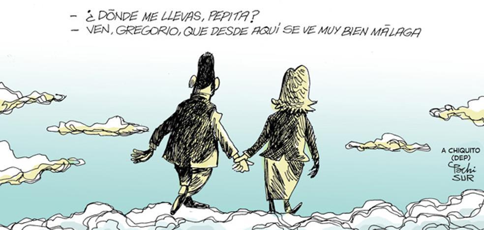 Pachi dedica su viñeta a Chiquito de la Calzada y su eterna compañera, Pepita