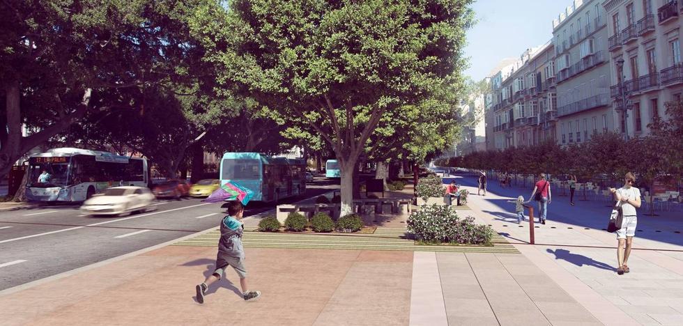 El Ayuntamiento de Málaga saca a concurso la obra del lateral sur de la Alameda Principal