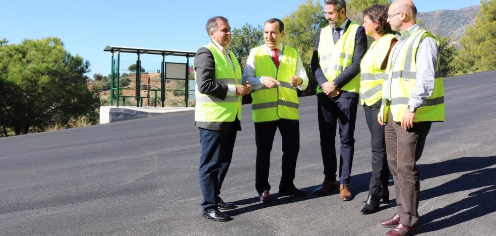 La Junta completa la renovación de las carreteras de acceso a Mijas pueblo