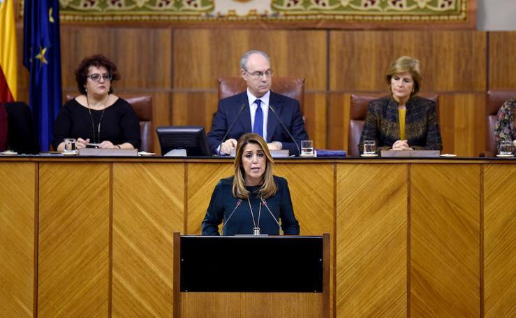 El debate sobre el estado de la Comunidad andaluza, en fotos