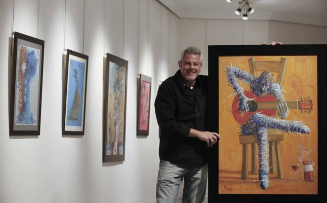 Andrés Mérida se pone flamenco en la Galería Benedito