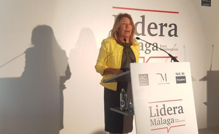 La alcaldesa de Marbella, Ángeles Muñoz, en el Foro Lidera Málaga de SUR