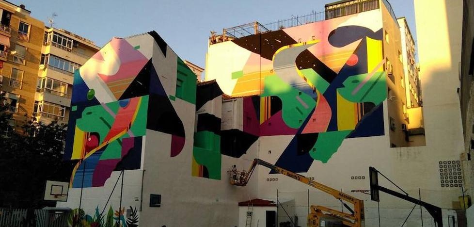 Murone estampa su sello en el paisaje urbano de Málaga