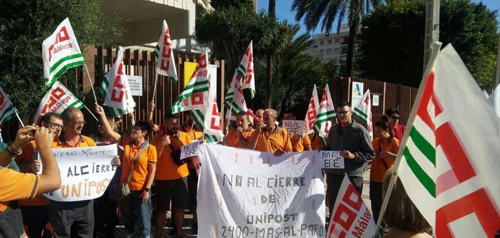 17 malagueños se quedarán en la calle en diciembre en la primera oleada de despidos de Unipost