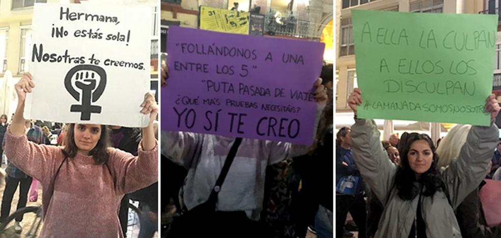 Málaga se une al grito de 'La Manada Somos Nosotras' para denunciar la actuación judicial en el caso de Sanfermines