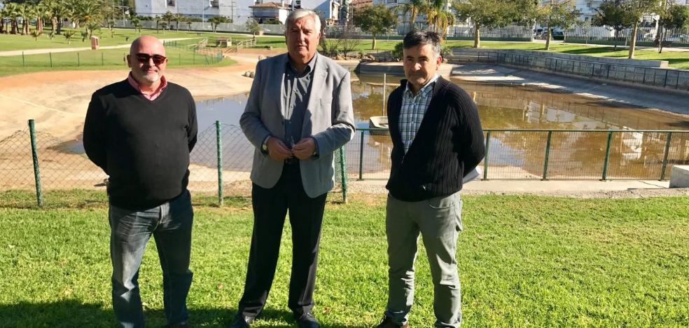 Comienzan los trabajos de mejora del estanque del parque María Zambrano