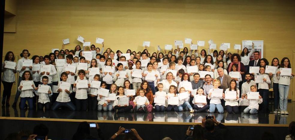 Más de 120 niños de siete escolanías de Málaga participan en un taller de canto coral
