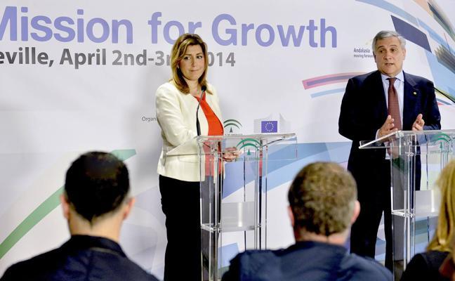 Susana Díaz buscará en Bruselas nuevos programas de financiación para Andalucía