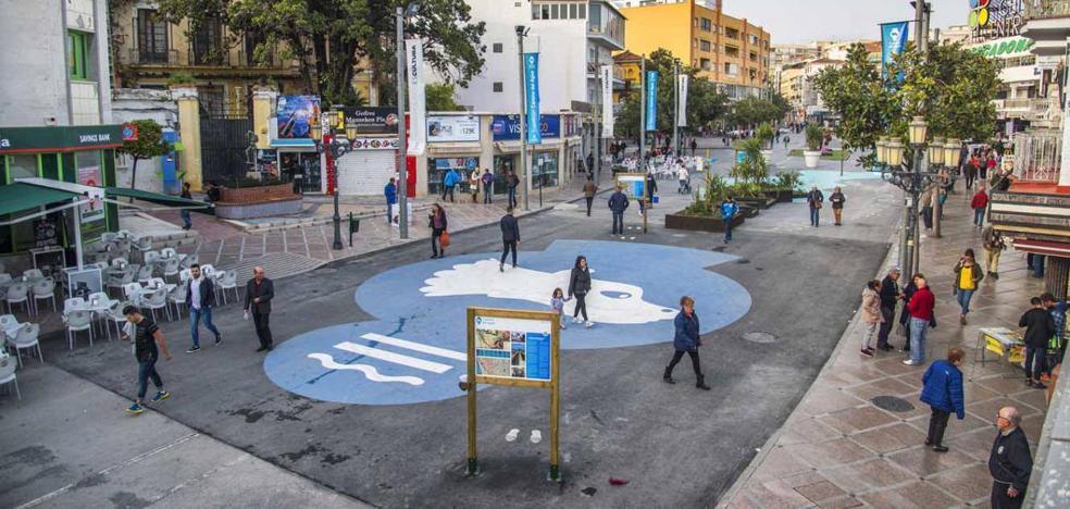Comienzan los trabajos previos para peatonalizar el centro de Torremolinos