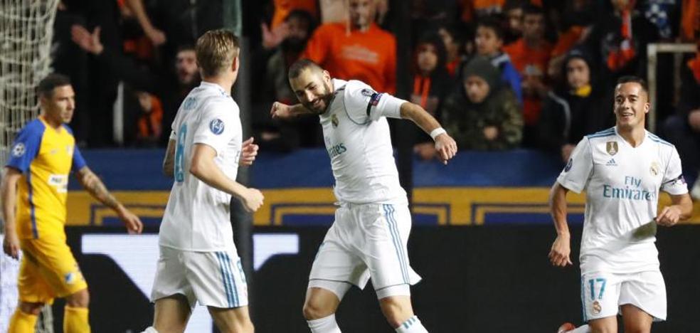 El Madrid recupera sensaciones en Nicosia