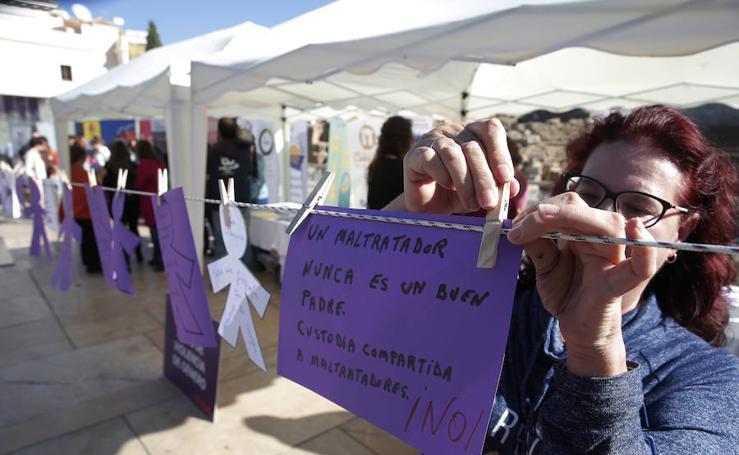 Iniciativa en calle Alcazabilla para conmemorar el Día contra la Violencia de Género