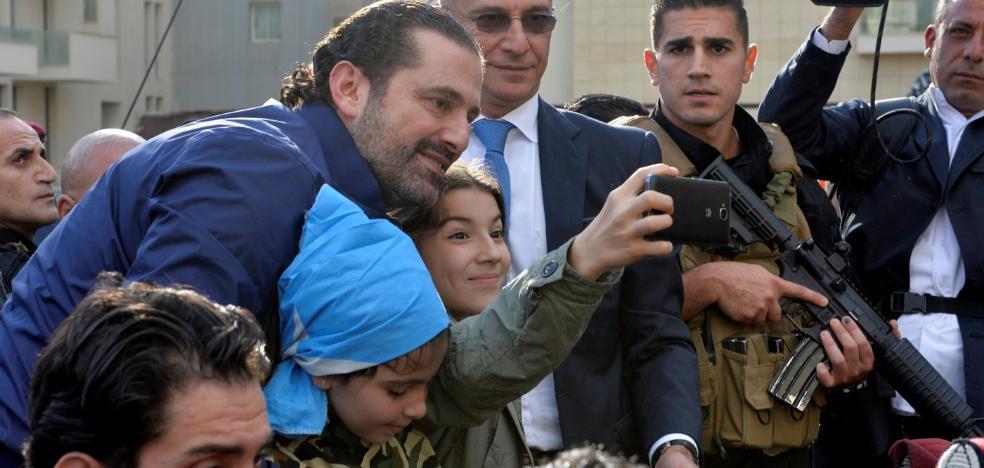 Libano celebra el regreso de su primer ministro