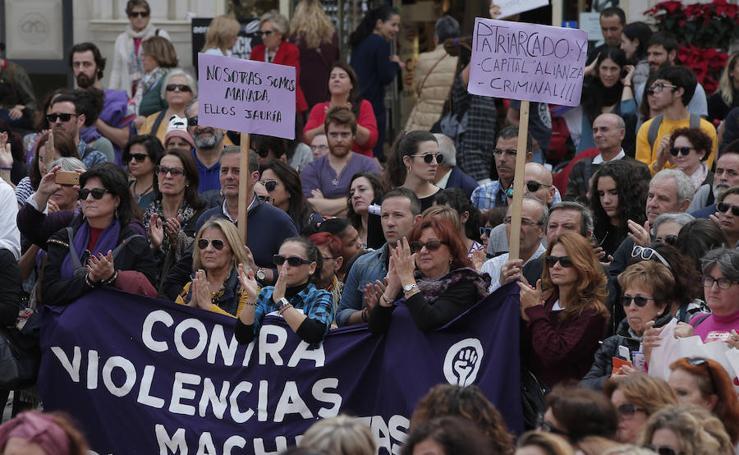 La manifestación contra la violencia de género en Málaga, en imágenes