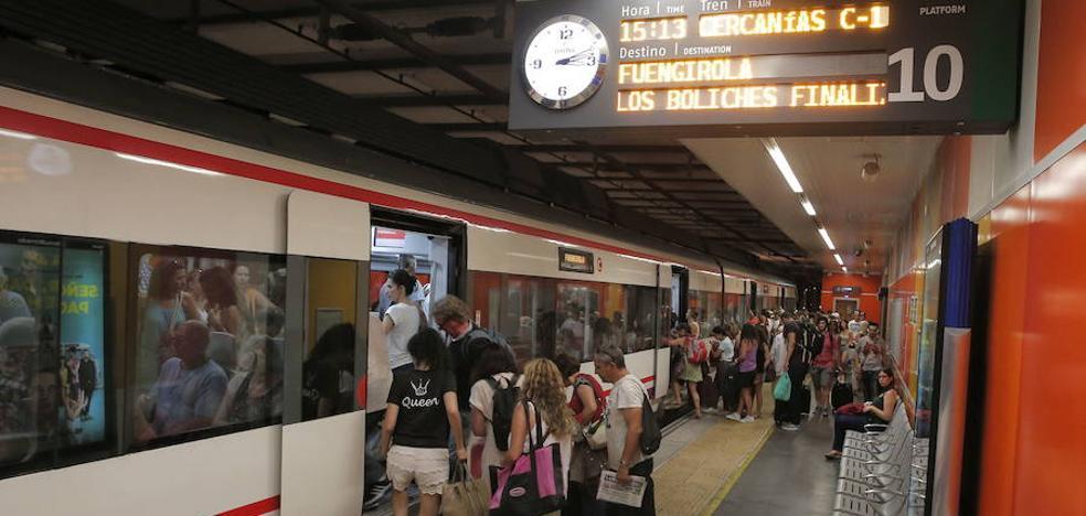 Fomento reconoce que la red de Cercanías de Málaga está «al máximo de capacidad»