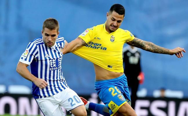 Las Palmas suma en Anoeta y rompe una racha de ocho derrotas consecutivas
