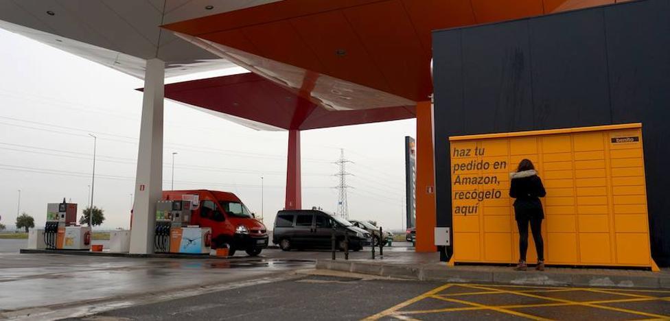 Amazon coloca seis taquillas automáticas para recoger pedidos en Málaga
