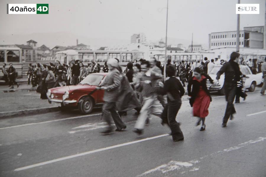 Disturbios y cargas policiales durante la manifestación del 4 de diciembre de 1977