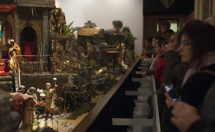 Las mejores imágenes del Belén del Ayuntamiento de Málaga