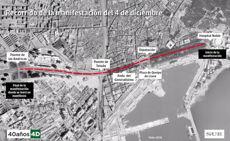 Recorrido de la manifestación del 4 de diciembre