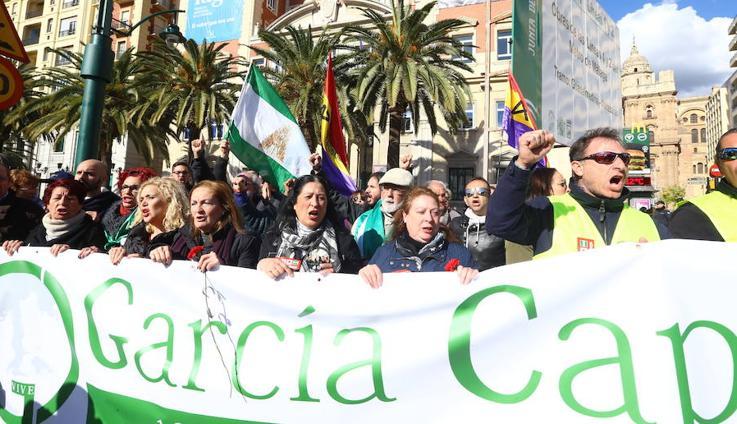 Fotos de la manifestación por el 40 aniversario de la muerte de Manuel José García Caparrós en Málaga