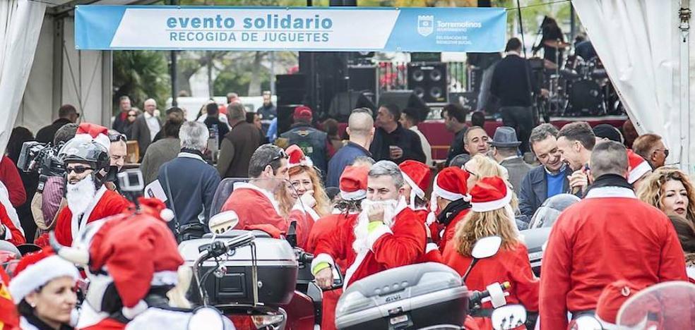 Un centenar de moteros vestidos de Papá Noel recorrerán Torremolinos en la III Toy Run