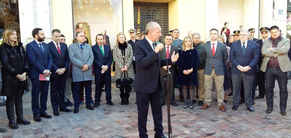 Los portavoces municipales muestran sus diferencias al conmemorar la Constitución en Málaga