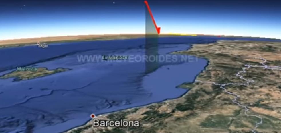 Vídeo: Una gran bola de fuego sobrevuela el Mar Mediterráneo