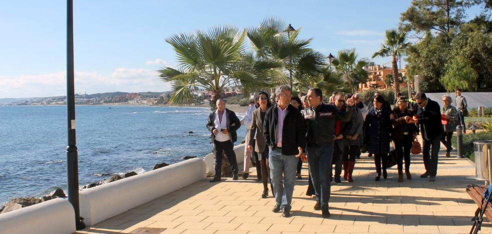 La Diputación destaca el impulso de Estepona a la Senda Litoral