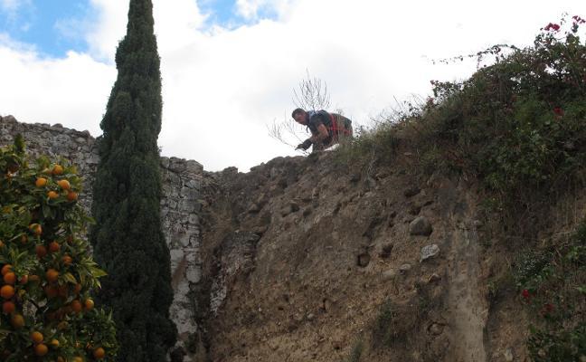 El Ayuntamiento de Marbella realiza trabajos de limpieza de vegetación en la muralla del Castillo