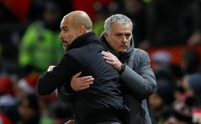 Guardiola defiende a sus jugadores y Mourinho habla de «educación»