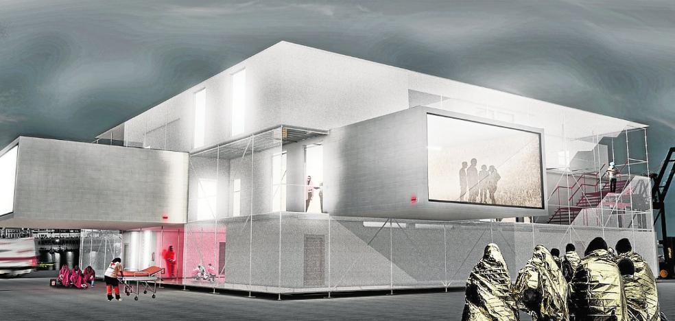 Alumnos de la UMA diseñan un centro de acogida para refugiados en el Puerto