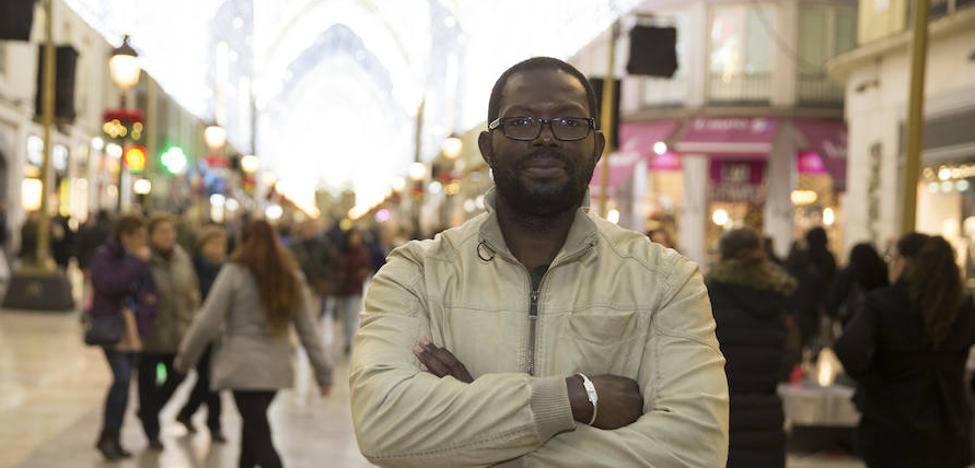 El rey Baltasar en la Cabalgata de Reyes de Málaga 2018 es un africano que huyó del conflicto de la Costa de Marfil
