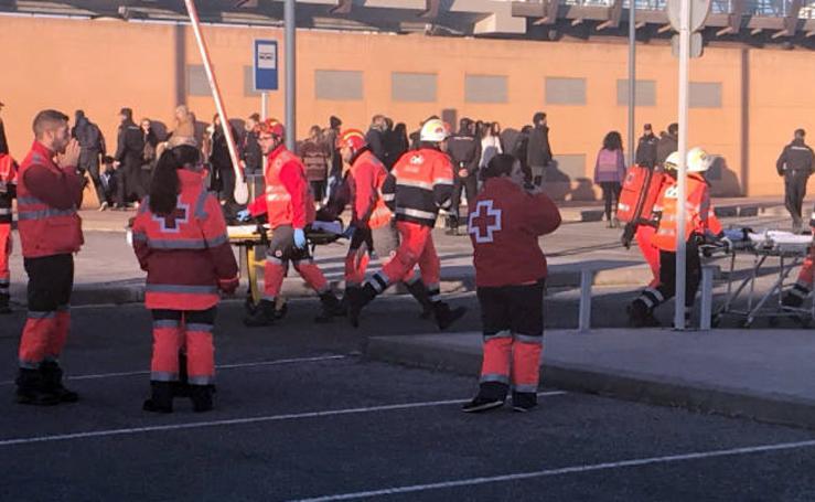 Simulacro de accidente con heridos múltiples en Málaga