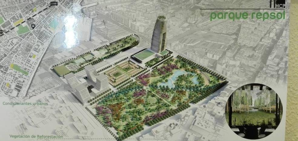 Los terrenos de Repsol albergarán un gran parque sin renunciar a los rascacielos
