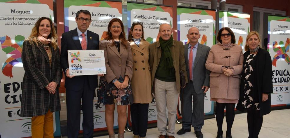 Coín vuelve a ser la única 'Educaciudad' de Málaga
