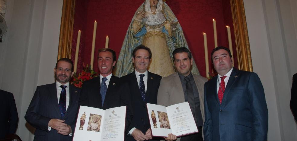 Entregados los nombramientos de pregonero y autor del cartel de Semana Santa