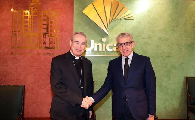 La Fundación Unicaja renueva su apoyo al Obispado, que incluye la conservación de edificios