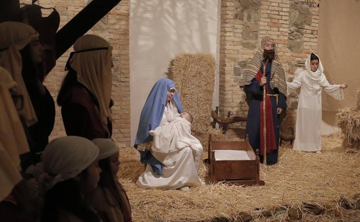 La Casa Diocesana de Málaga monta su Belén viviente