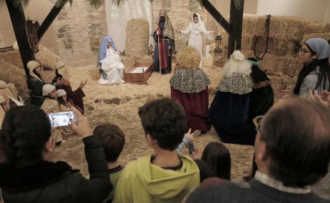 La Casa Diocesana de Málaga acoge un Belén viviente