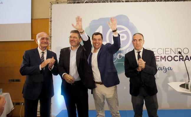 El PP saca pecho de sus 40 años en Málaga