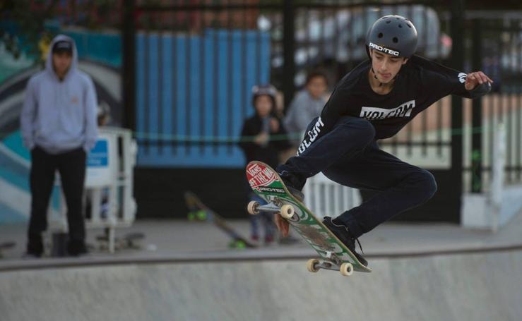 Campeonato Nacional de Skate en el parque Rubén Alcántara