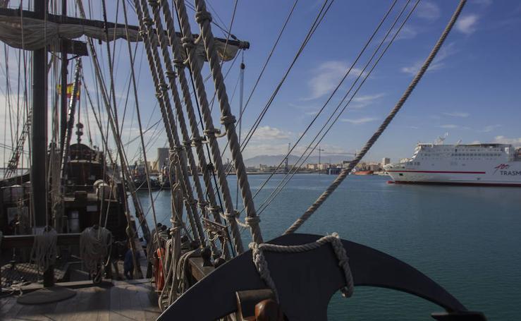 Así es el Galeón Andalucía que puede visitarse en Málaga